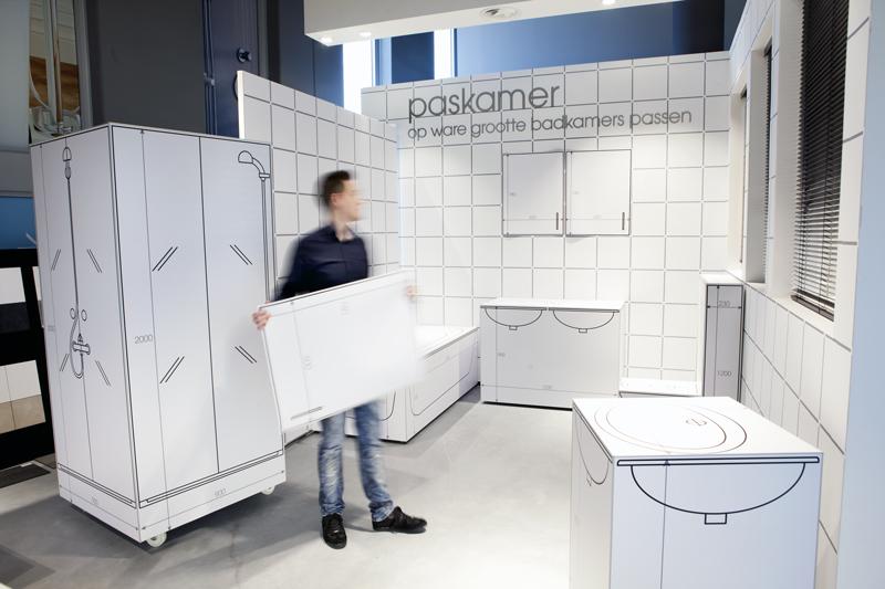 De showroom kleine for Badkamer 3d inrichten