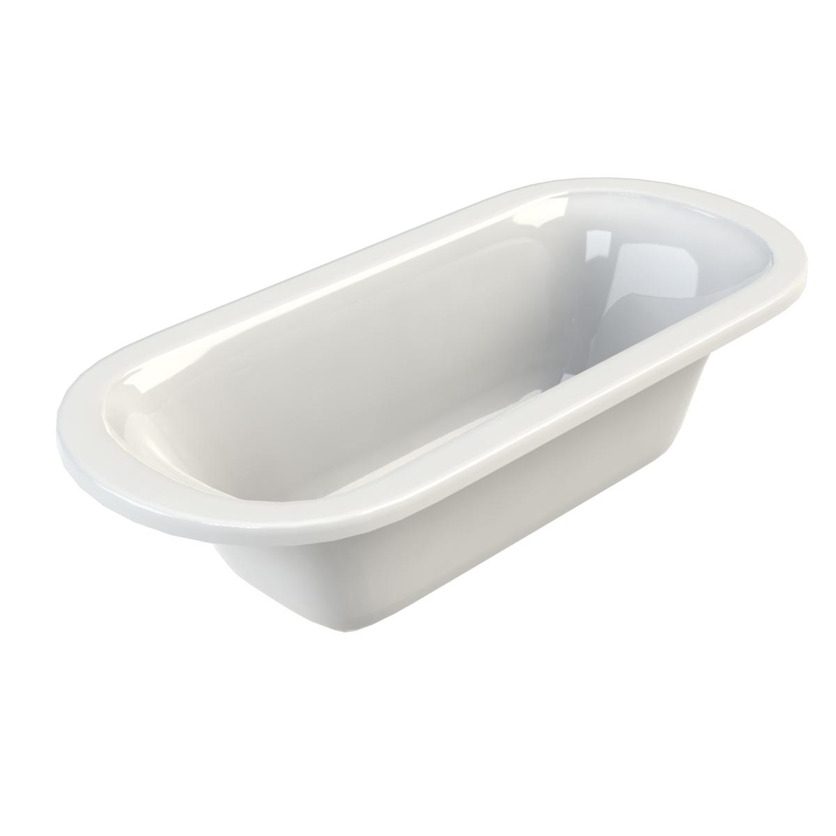 Brent varese ovaal ligbad kleine badkamers - Kleine badkamer in lengte ...