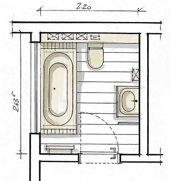 Kleine badkamer Villeroy en Boch   Kleine badkamer