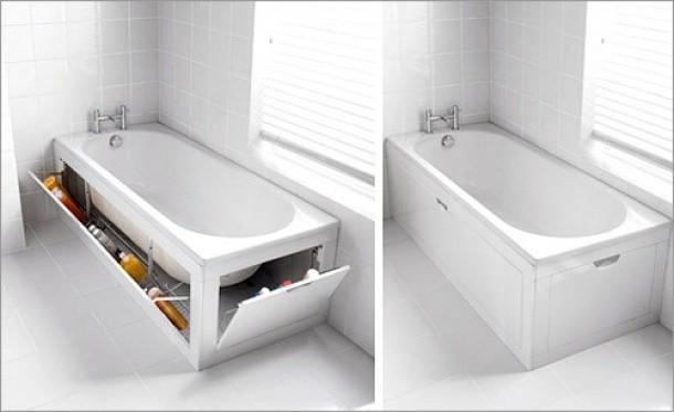 Kosten Badkamer Bouwen ~ Slim bad voor de kleine badkamer