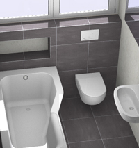 Tegels in de kleine badkamer kleine - Kiezen tegelvloer ...
