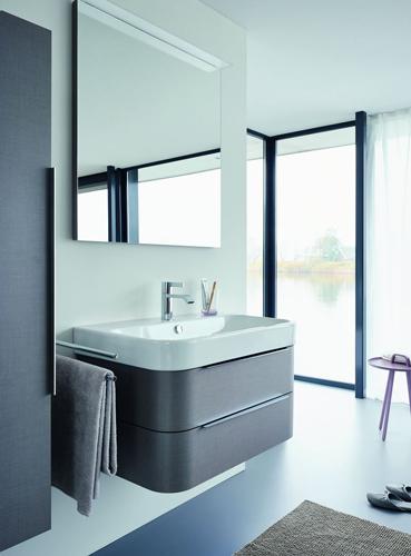 Wandtegels Badkamer Zwart ~ De kleine badkamer Happy D van Duravit  Kleine badkamers nl