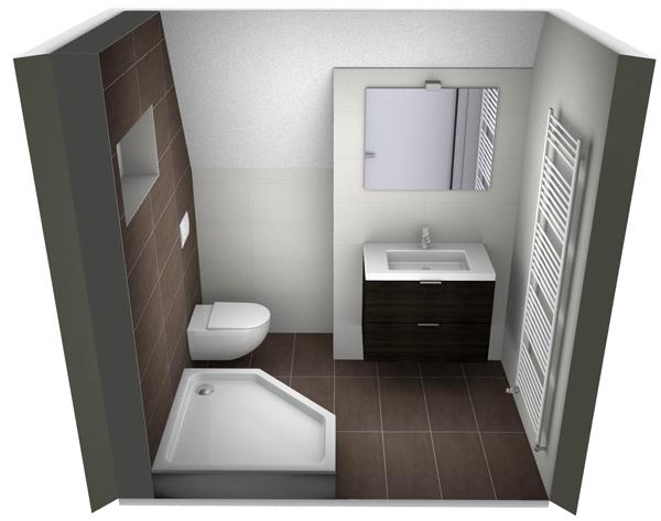 Tekening kleine badkamer kleine badkamers - En grijze bad leisteen ...