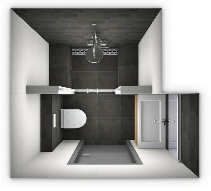 Ontwerp kleine badkamer kleine - Gemeubleerde salle de bains ontwerp ...
