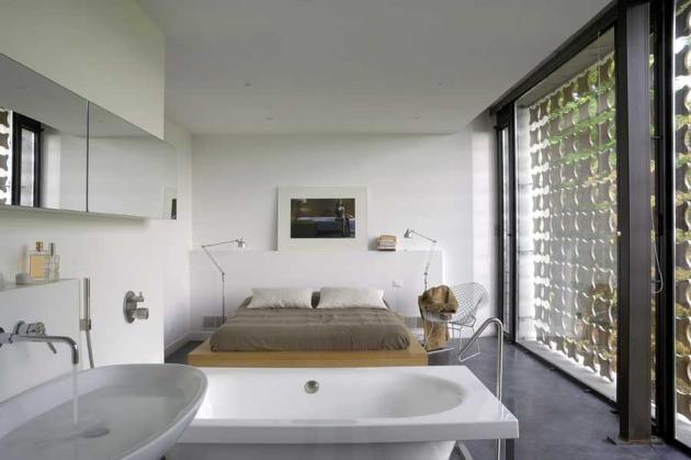 Voorbeelden van een badkamer in de slaapkamer
