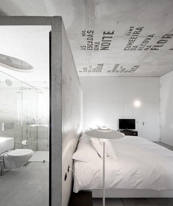 badkamer in slaapkamer
