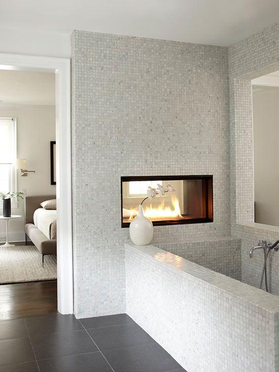 Extreem 14 voorbeelden van een badkamer in de slaapkamer #UY59