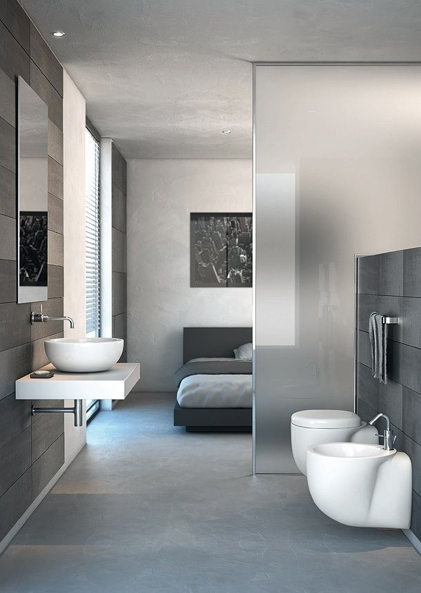 14 voorbeelden van een badkamer in de slaapkamer, Deco ideeën
