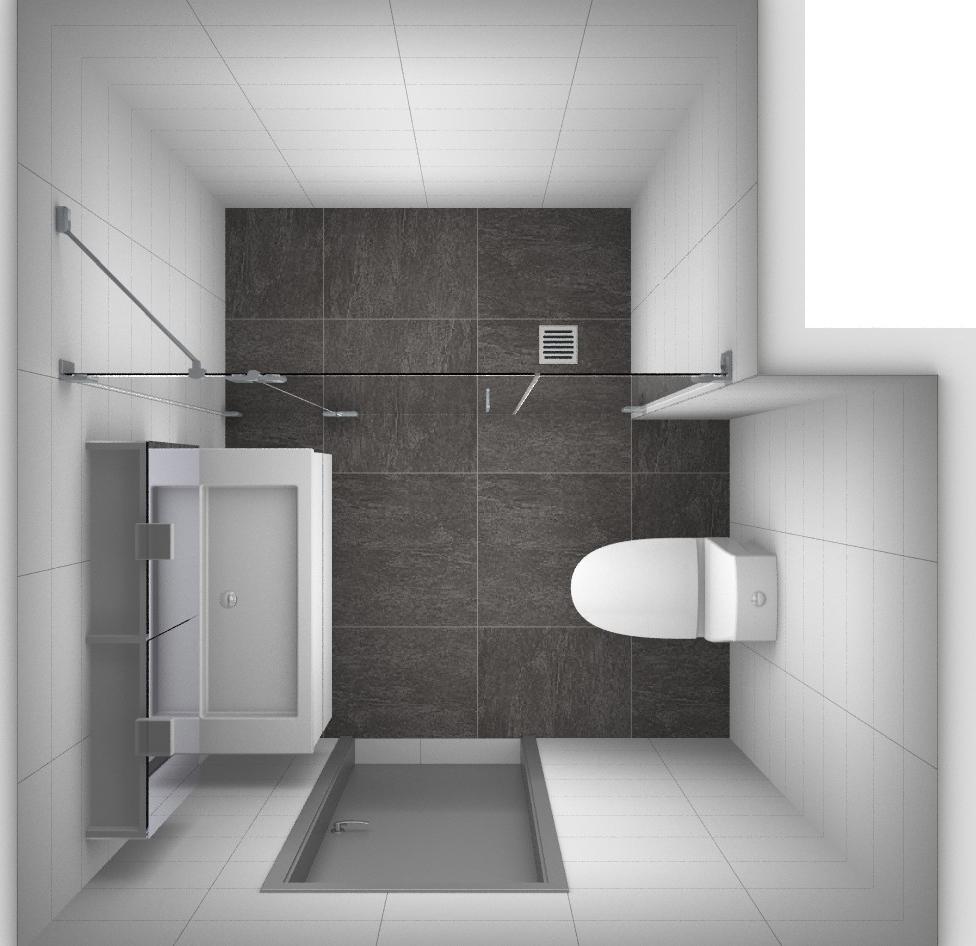 5 voorbeelden voor het indelen van een kleine badkamer - Glazen kamer bad ...
