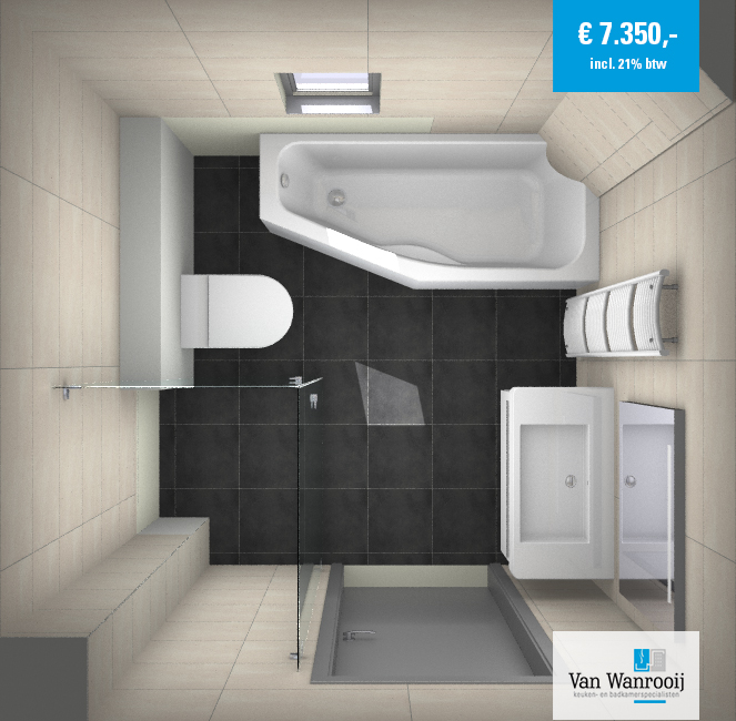 Kleine badkamer met bad kleine - Spiegel wc ontwerp ...