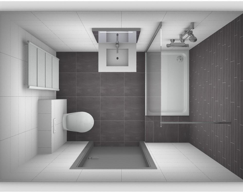 kleine badkamer indelen brigee