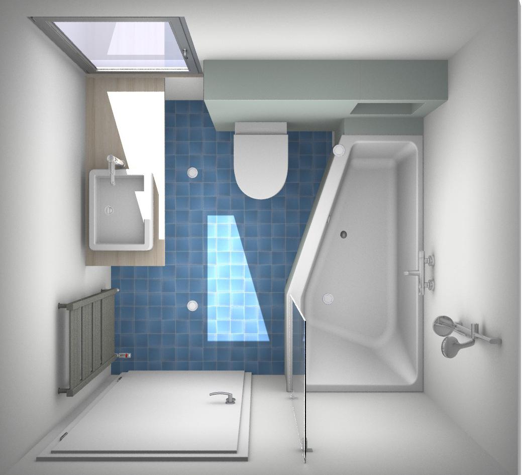 Uitgelezene Een paar slimme ontwerpen voor de kleine badkamer VK-98