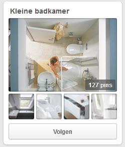 kleine badkamer pinterest