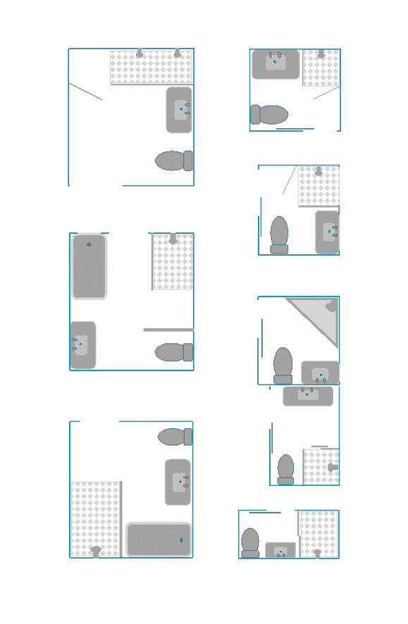 8 kleine badkamer plattegronden kleine - Badkamer plan m ...