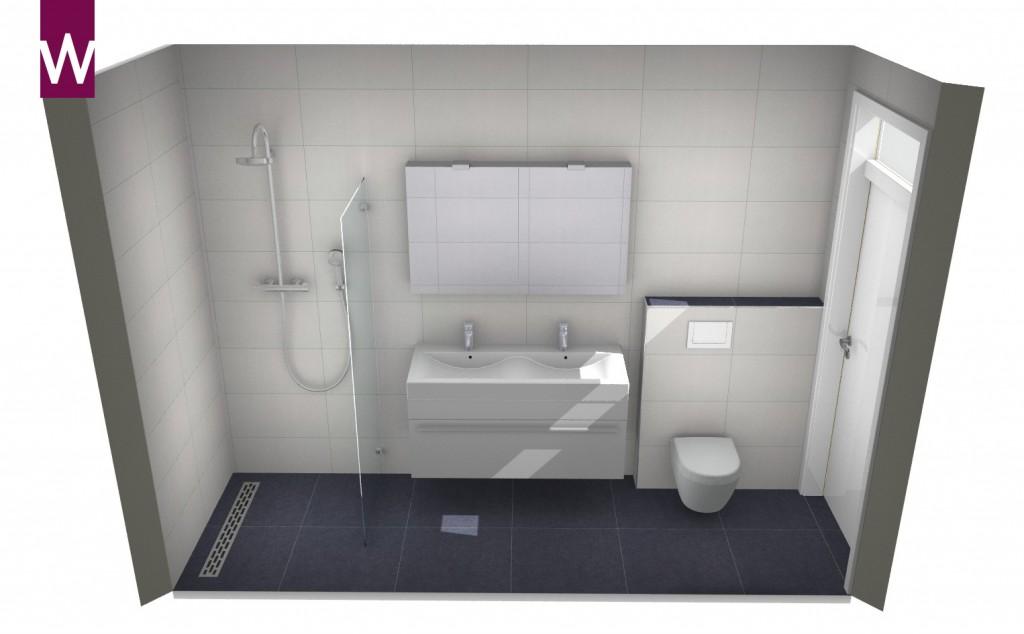 Idee Badkamer Klein : Kleine badkamer onder schuin plafond