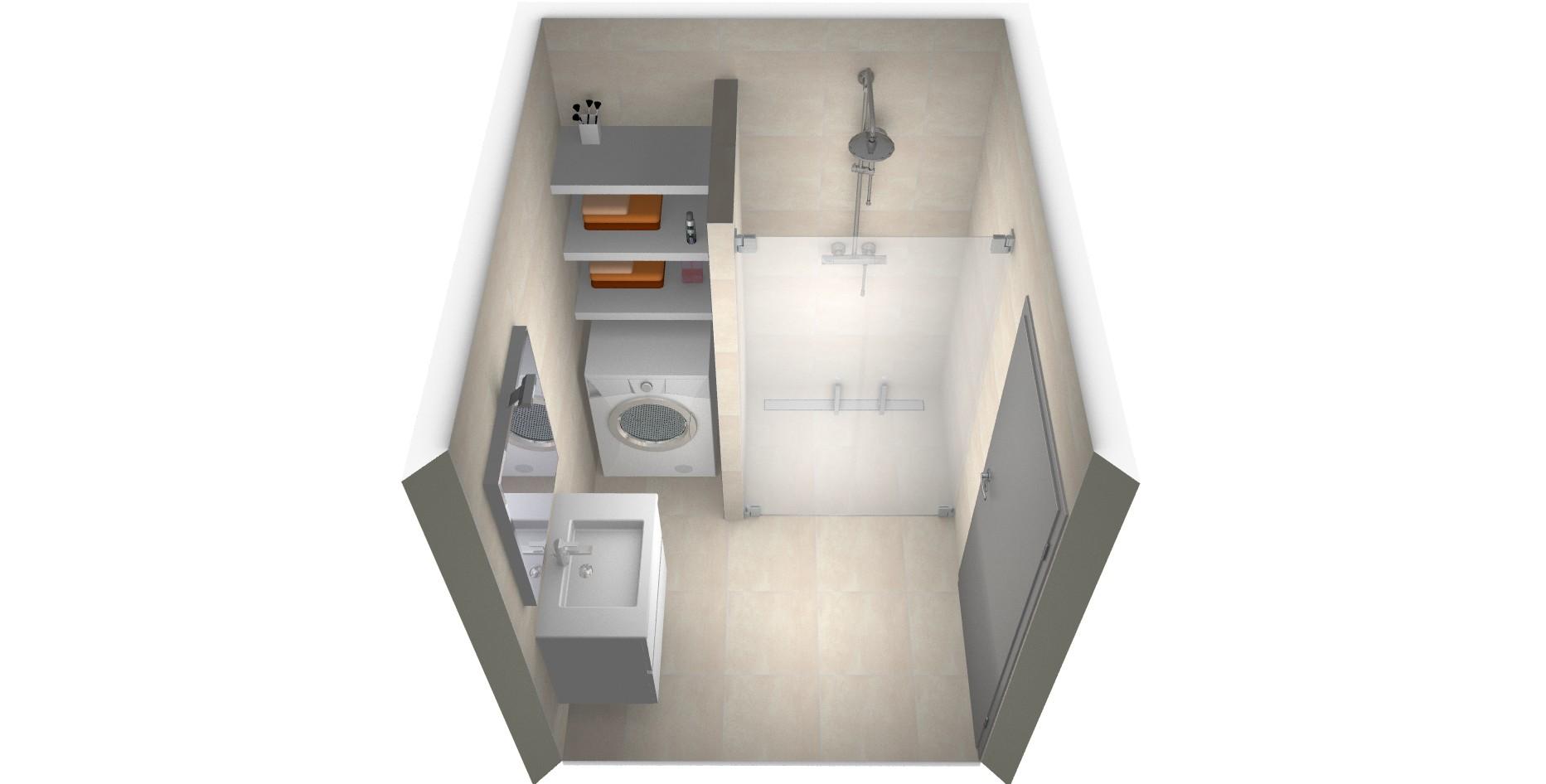 5 voorbeelden van een kleine badkamer met wasmachine - Moderne wasruimte ...