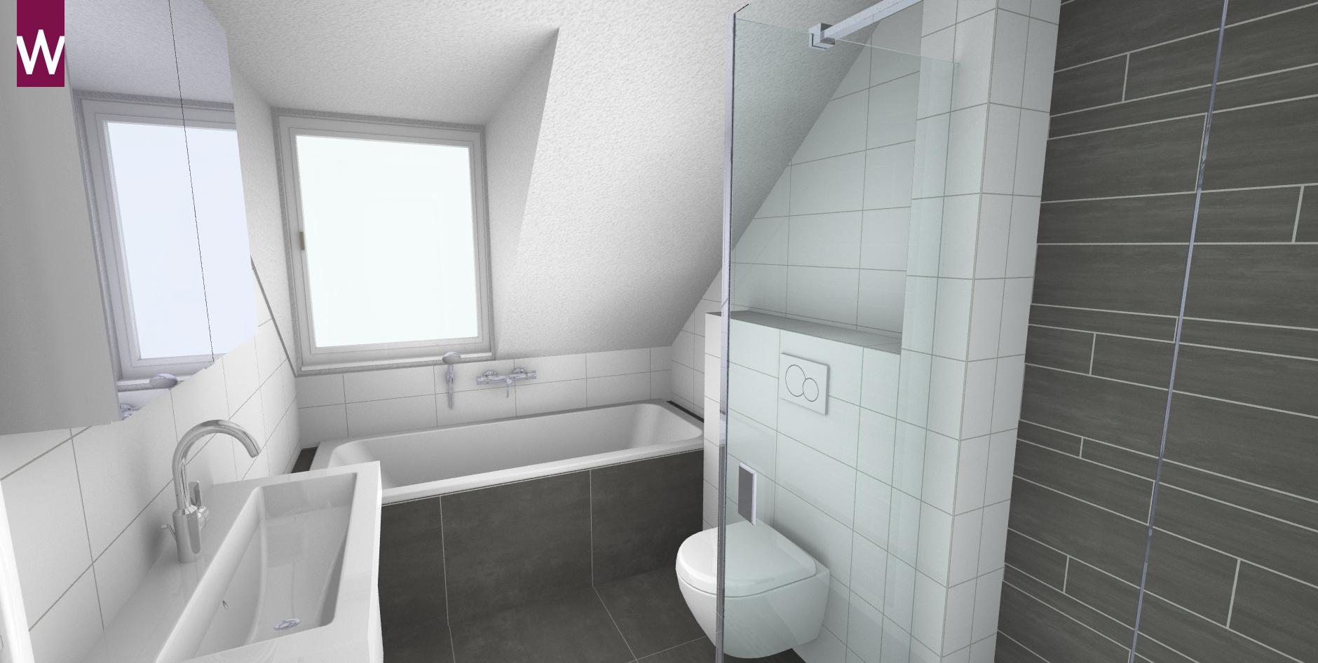 Schuin dak idee badkamer - Idee amenagement zolder klein volume ...