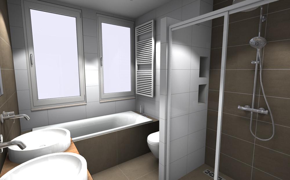 ontwerp tegels kleine badkamers