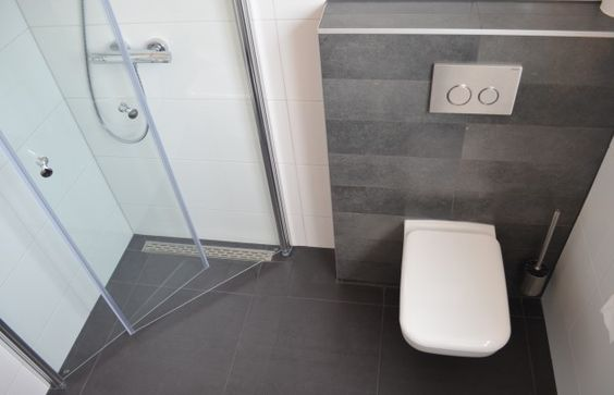Slimme compacte douchedeuren kleine badkamers - Moderne wasruimte ...