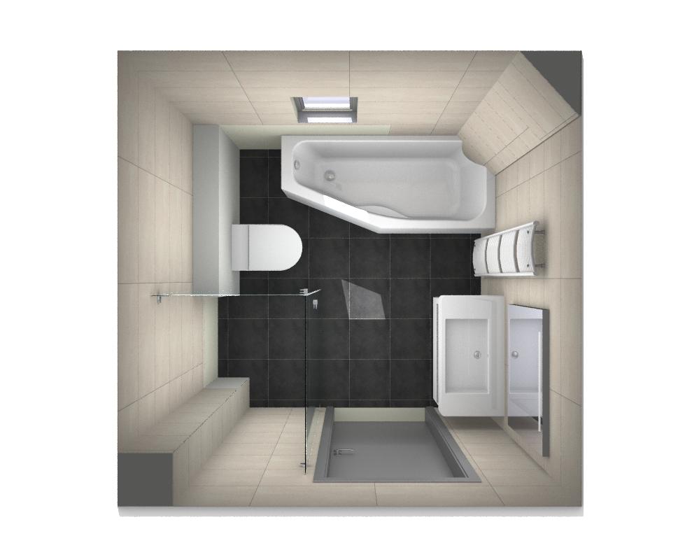 Brn 2 er 01 kleine badkamers - Deco kleine badkamer met bad ...