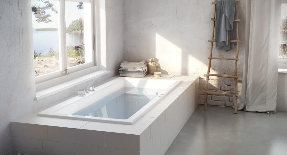 Cleopatra wellpool square kleine badkamers - Kleine badkamer in lengte ...