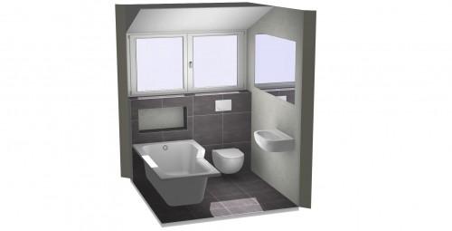 Kleine badkamer met bad bekijk voorbeelden van kleine for Grondplan badkamer