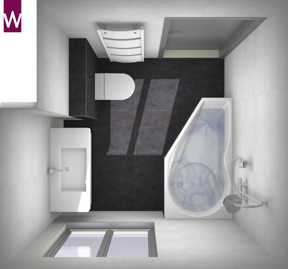 Kleine badkamer met bad / douchecombinatie - Kleine badkamers