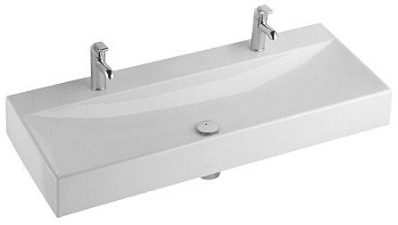 dubbele wastafel kleine badkamer