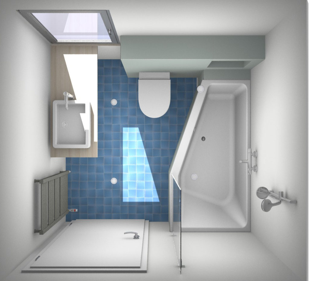 Magnifiek Een paar slimme ontwerpen voor de kleine badkamer @QW74