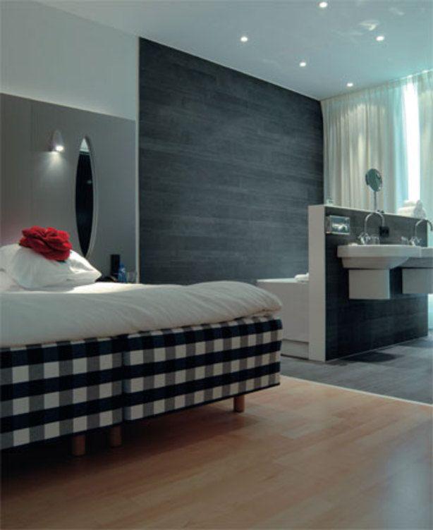 Zeer 14 voorbeelden van een badkamer in de slaapkamer @LS81