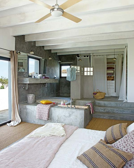 badkamer-in-slaapkamer-steen - Kleine badkamers