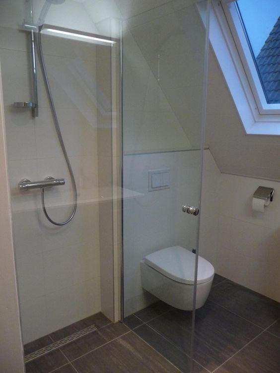 badkamer-zolder-douche - Kleine badkamers