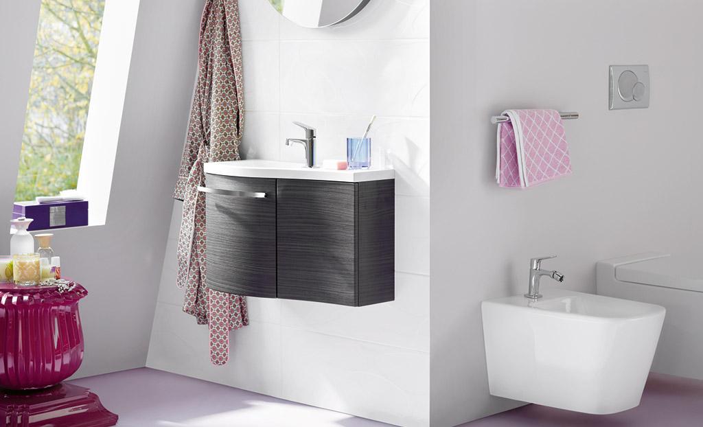 Wasbak Toilet Klein : Burgbad Sinea voor de kleine badkamer - Kleine ...