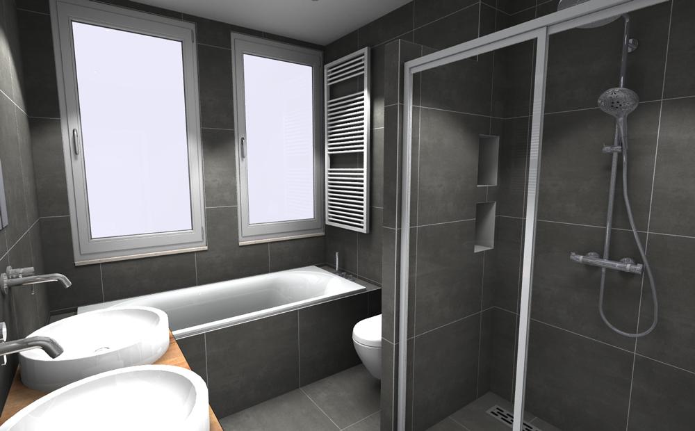 Complete kleine badkamer tegels 02 kleine badkamers - Kleine badkamer ...