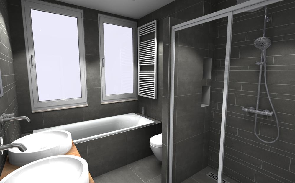 Complete kleine badkamer tegels 03 kleine badkamers - Kleine betegelde badkamer ...
