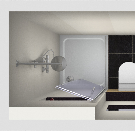 Douche voor de kleine badkamer kleine badkamers for Plan kleine badkamer