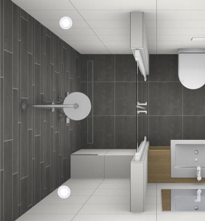 Inloopdouche voor een kleine badkamer - Kleine badkamers