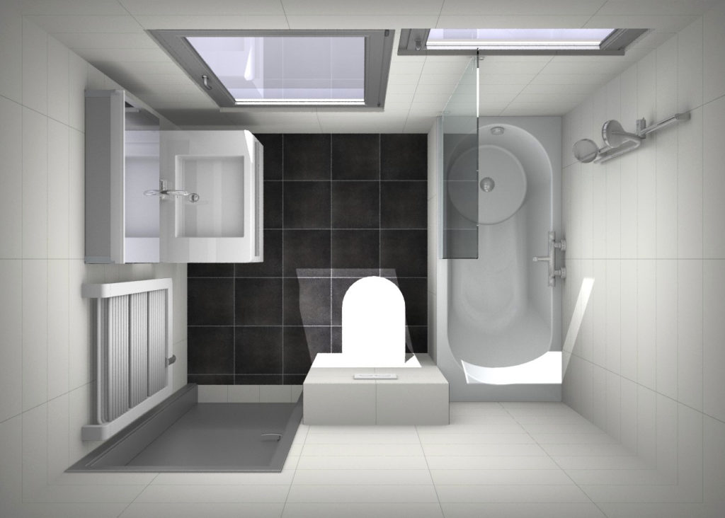Onze showroom kleine badkamers - Lay outs badkamer ...