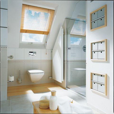 Badkamer met schuin dak - Kleine badkamers