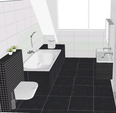 Moderne badkamer met mosa vloertegels bizassa glasmozaiek kleine badkamers - Moderne badkamer met italiaanse douche ...