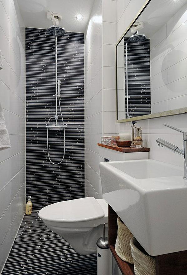 10 voorbeelden van een hele kleine badkamer - Kleine Badkamers