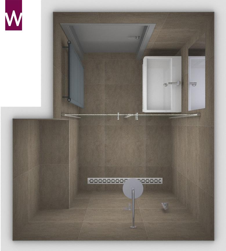 Badkamer idee wasmachine wasmachine wegwerken in badkamer zolder afwerken dakkapel - Deco kleine badkamer met bad ...