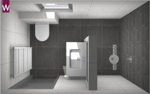 Home kleine badkamers - Kleine badkamer in lengte ...
