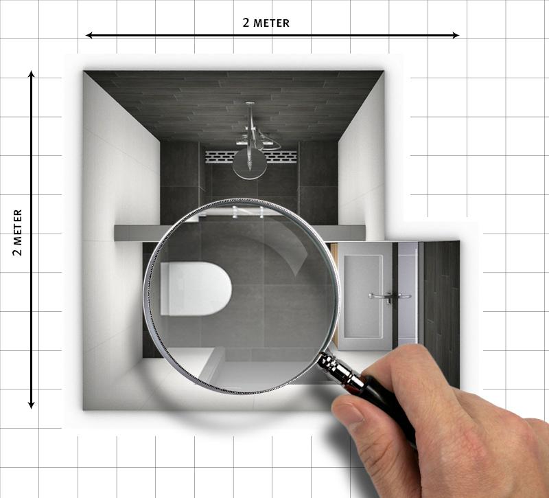 D 8 tips voor het groter laten lijken van een kleine badkamer for Badkamer laten ontwerpen