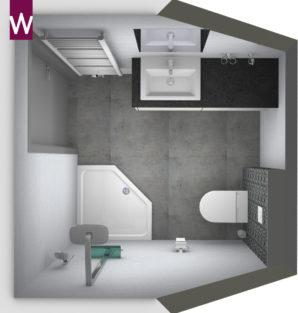 badkamer schuin plafond