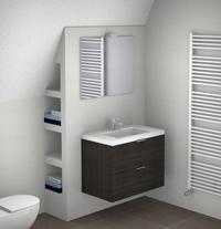 kleine-badkamer-schuin-dak - Kleine badkamers