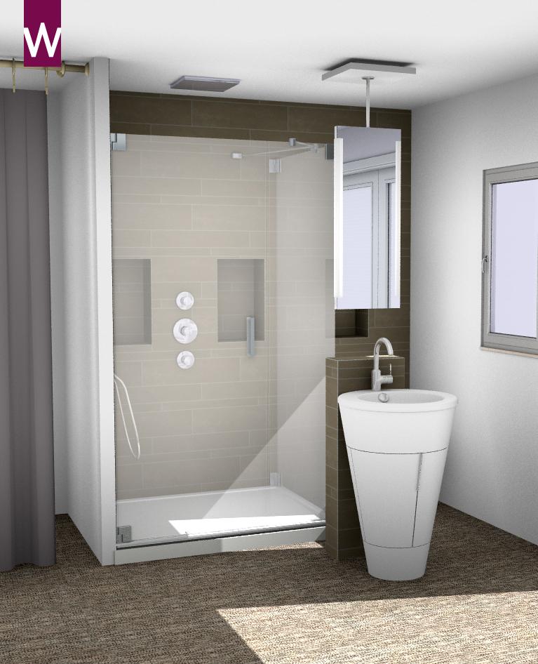 douchen in de slaapkamer  kleine badkamers, Meubels Ideeën