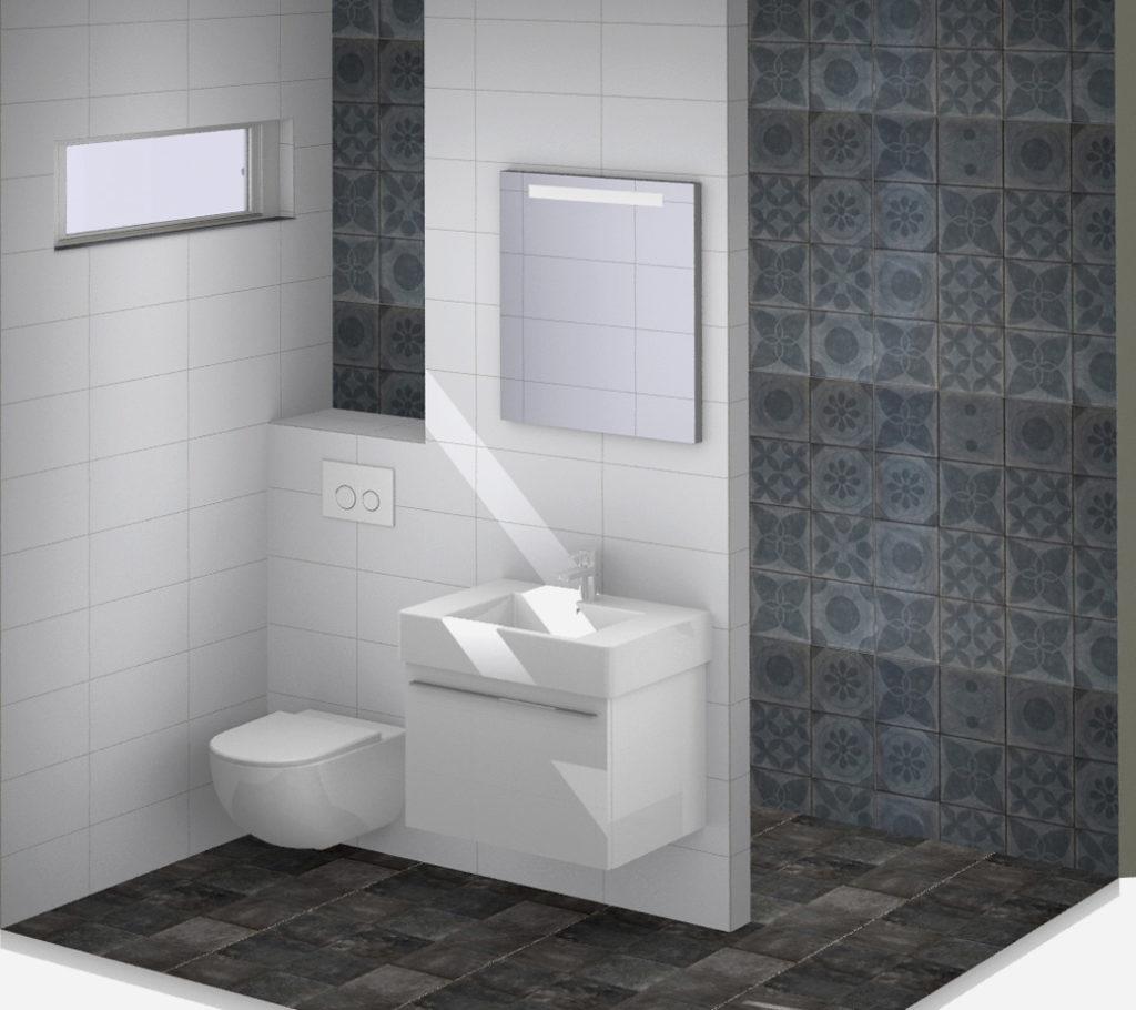 Onze showroom kleine badkamers for Badkamer tegels