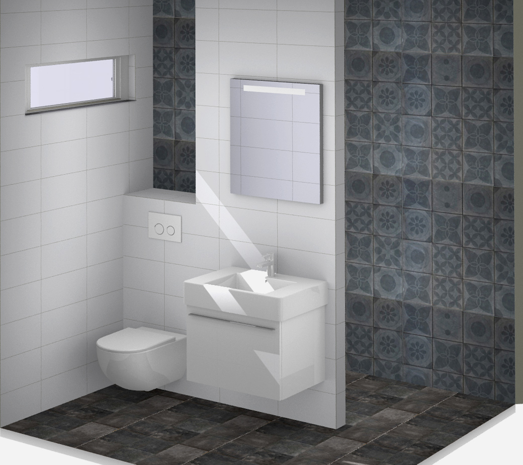 Kleine badkamer vtwonen tegels kleine badkamers - Badkamer tegel helderwit ...