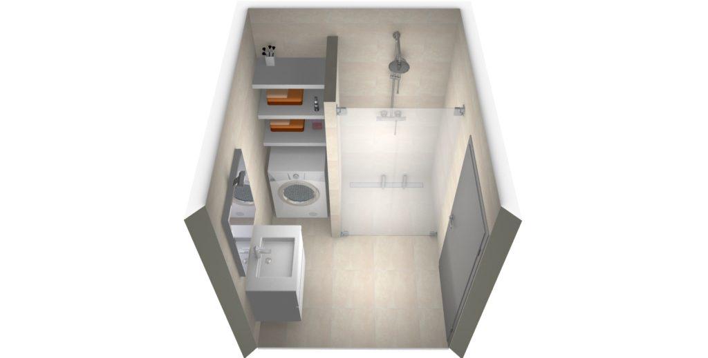 kleine-badkamer-wasmachine-5 - Kleine badkamers
